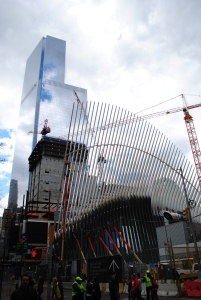 Transportation Hub, 3WTC (middle), 4WTC (back), New York City