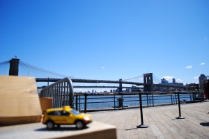 View of Brooklyn & Manhattan Bridge, South Street Seaport, New York City
