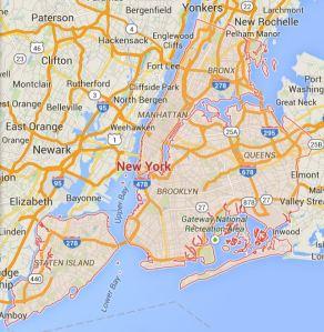 Map of New York City, New York