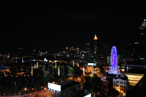 View of Atlanta from the Skylounge at The Glenn, Atlanta