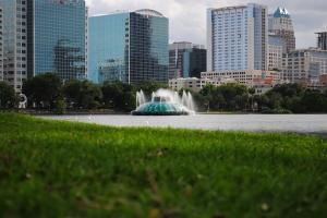 Lake Eola Park - view of Downtown Orlando, Orlando