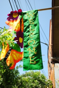 Welcome banner, Faubourg Marigny, New Orleans