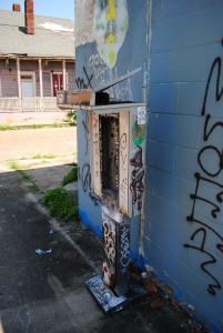 Vandalized public phone, St. Claude, New Orleans