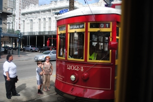 Red line streetcar, New Orleans