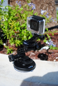 GoPro Hero 3+ with suction cup