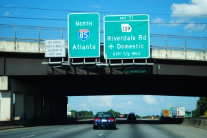 Atlanta road sign - Interstate 85 North