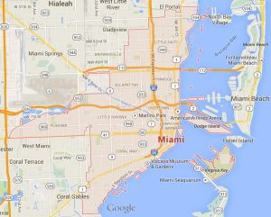 Map of Miami, Florida