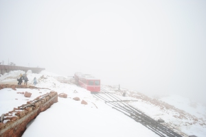 Foggy view from the summit, Pikes Peak
