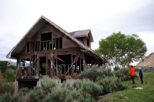 Burnt down house near Cody, Wyoming