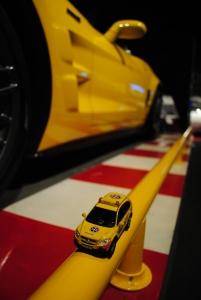 Chevrolet Captiva in front of Chevrolet Corvette Z06, National Corvette Museum, Bowling Green