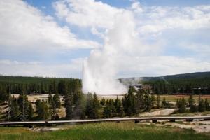 Old Faithful geyser, Yellowstone National Park