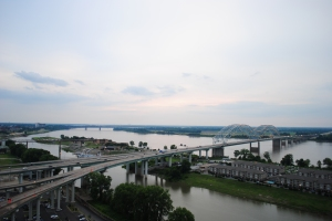 View of Mississippi River from the Pyramid, Memphis