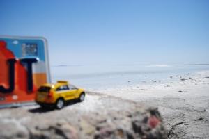 Little Captiva admiring the Bonneville Salt Flats, Utah