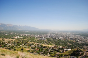 View of Salt Lake City from Ensign Peak