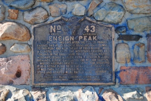 Ensign Peak tag, Salt Lake City