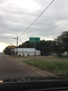 Pampa road sign, Texas