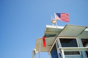 Lifeguard tower, Venice Beach, California