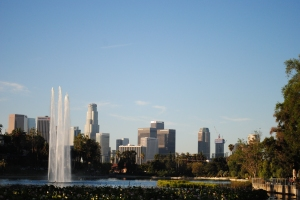 Echo Park Lake, Echo Park, Los Angeles, California