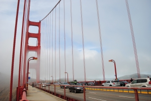 Golden Gate Bridge, driving of from San Francisco to Sausalito, California