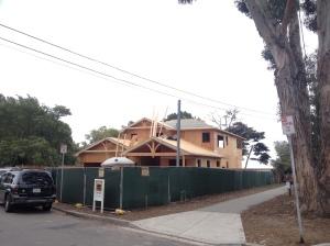 New house being built in Santa Barbara, California