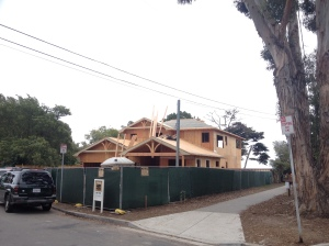 New house being built in Santa Barbara, California