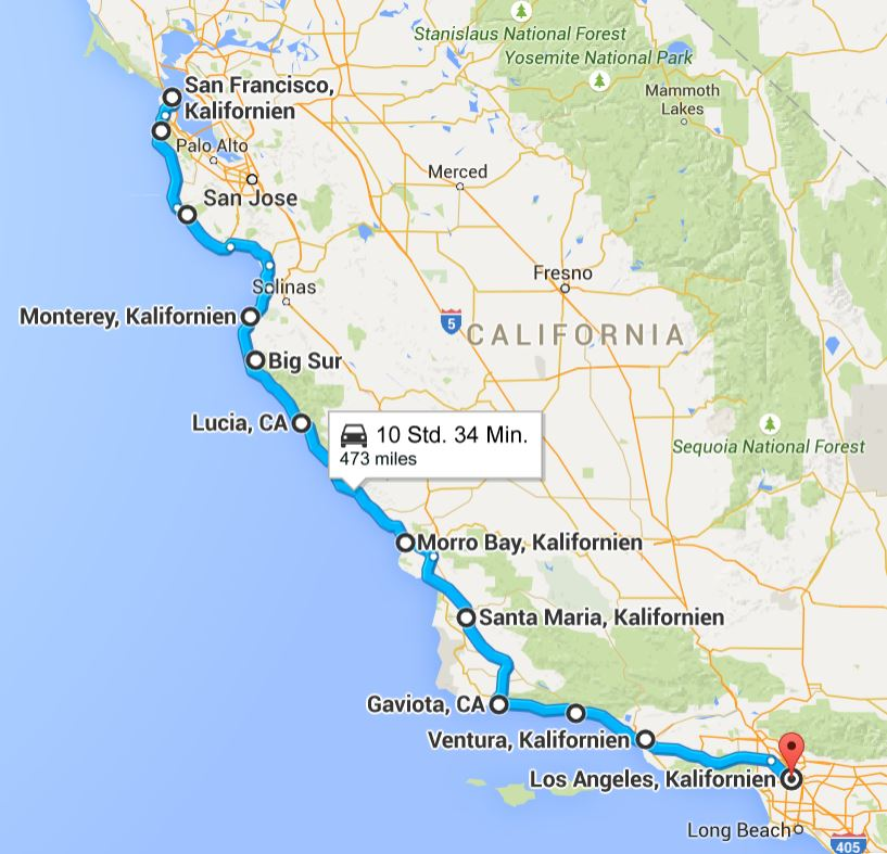 San Francisco to Los Angeles  Sixt OneWay Car Hire
