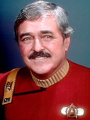 James Doohan as Montgomery Scott (Scotty) on Star Trek