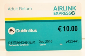 Airlink Express ticket, Dublin Bus