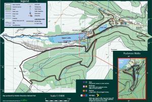 Glendalough hiking map