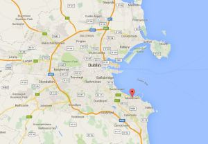 Monkstown in perspective to Dublin, County Dublin, Ireland